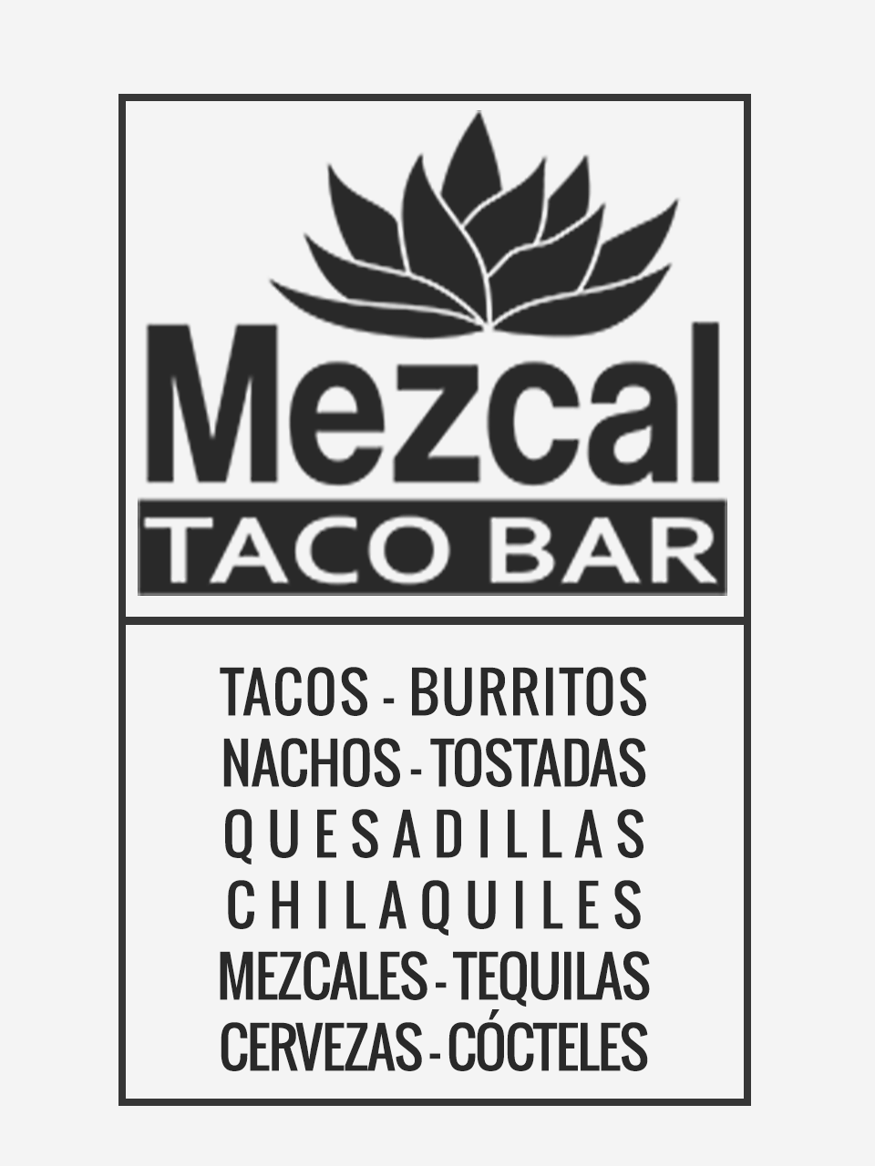 Rótulo Central Mezcal Taco Bar IX
